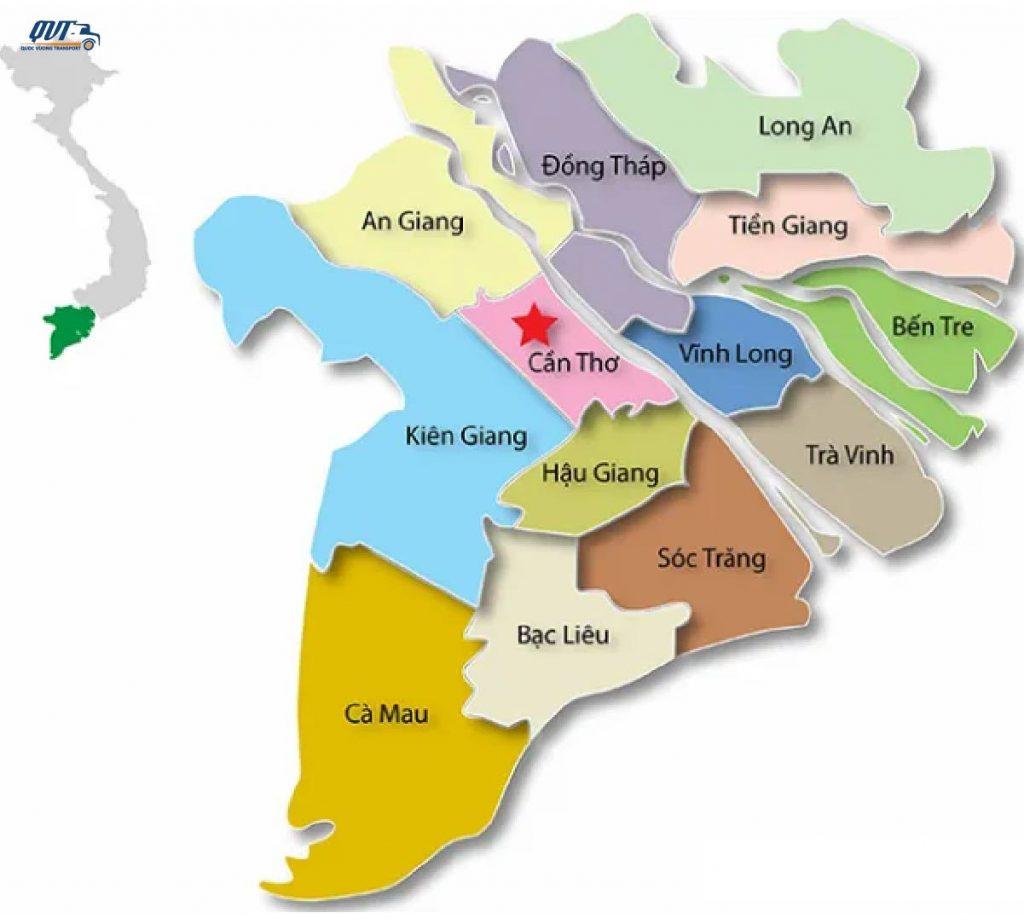 Bản đồ chành xe miền Tây